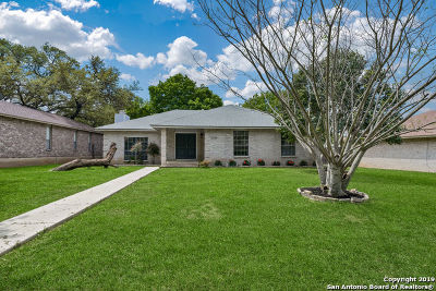 San Antonio Single Family Home Price Change: 13735 Stoney Hill