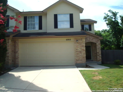 San Antonio Single Family Home New: 6803 Bluegrass Run