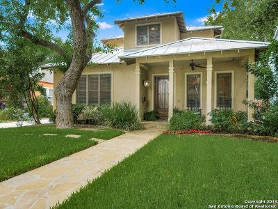 Alamo Heights Single Family Home Price Change: 307 Normandy Ave