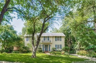 Terrell Hills Single Family Home For Sale: 110 Ridgemont Ave