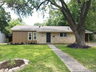 San Antonio Single Family Home New: 1826 Montview