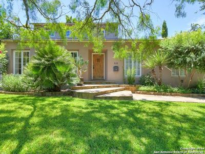 Alamo Heights Single Family Home For Sale: 222 Inslee Ave