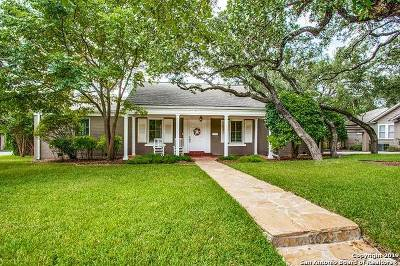 Alamo Heights Single Family Home For Sale: 302 Lamont Ave