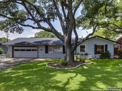 San Antonio TX Single Family Home For Sale: $555,000