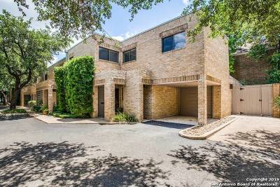 Alamo Heights Condo/Townhouse For Sale: 8123 New Braunfels Ave #F