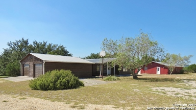 Bandera County Single Family Home Active Option: 687 Mountain View Trail