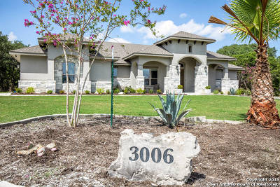 Canyon Lake Single Family Home New: 3006 Comal Springs