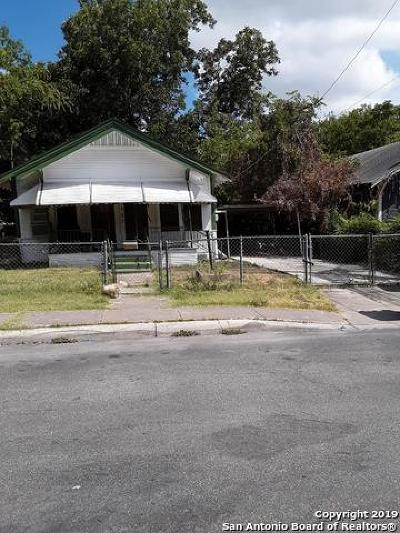 San Antonio Single Family Home New: 1723 Nolan St