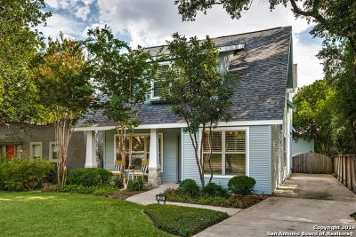 Alamo Heights Single Family Home For Sale: 212 Lamont Ave