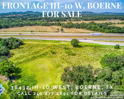 Boerne Residential Lots & Land New: 36432 I-10 W