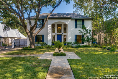 Olmos Park Single Family Home New: 123 Parklane Dr