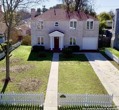 San Antonio Single Family Home Price Change: 226 Quentin Dr
