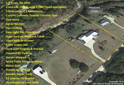 Bandera County Single Family Home New: 1405 Red Bluff Rd
