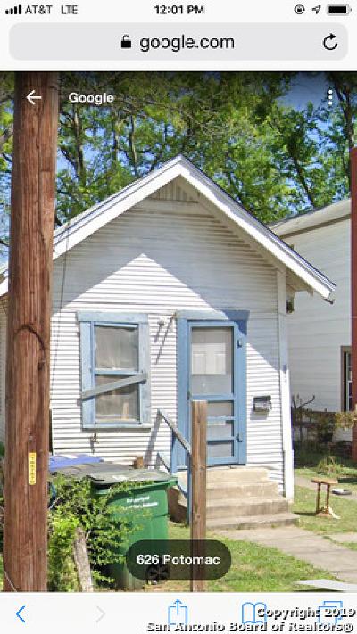 San Antonio Single Family Home New: 629 Potomac