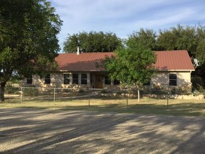Christoval Single Family Home For Sale: 19322 Pond Rd