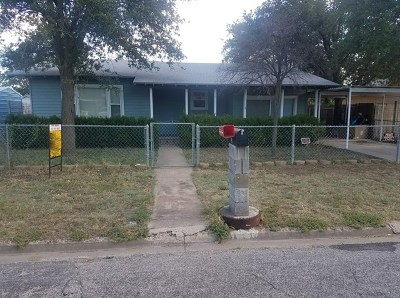 San Angelo TX Single Family Home For Sale: $92,000