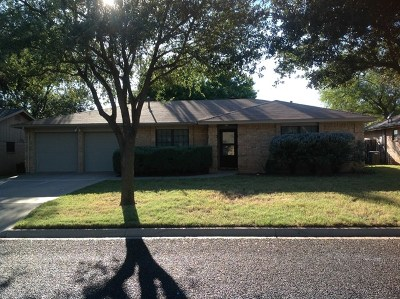 San Angelo Single Family Home For Sale: 3633 Clare Dr