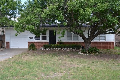San Angelo TX Single Family Home For Sale: $104,900