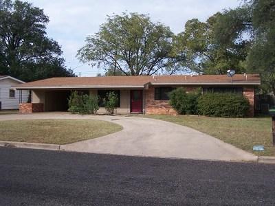 San Angelo TX Single Family Home For Sale: $154,900