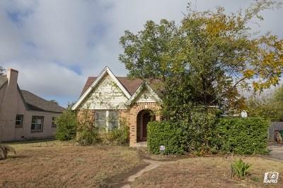 San Angelo TX Single Family Home For Sale: $129,000
