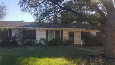 San Angelo TX Single Family Home For Sale: $150,000
