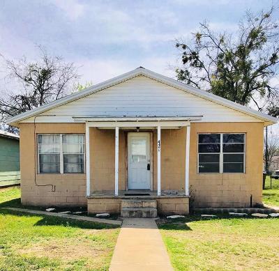 San Angelo Single Family Home For Sale: 421 E 12th St