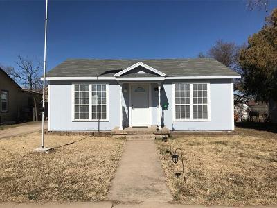 San Angelo TX Single Family Home For Sale: $84,900