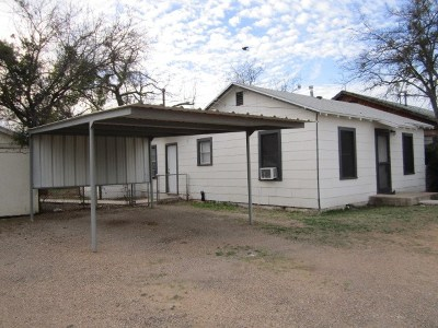 San Angelo TX Single Family Home For Sale: $75,000