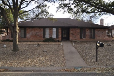San Angelo TX Single Family Home For Sale: $165,000