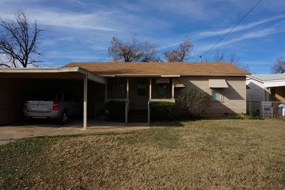 San Angelo TX Single Family Home For Sale: $85,000