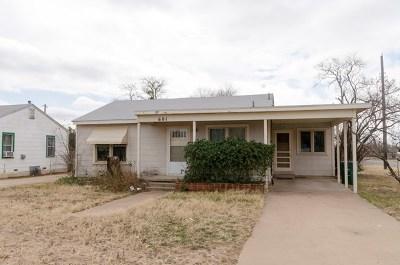 San Angelo TX Single Family Home For Sale: $69,900