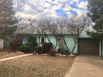 San Angelo TX Single Family Home For Sale: $89,500
