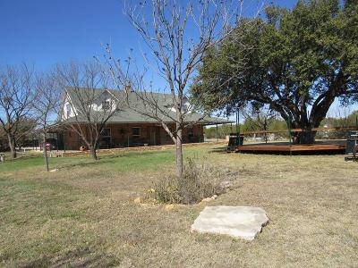 Christoval Single Family Home For Sale: 21305 S Hwy 277