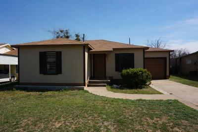 San Angelo Single Family Home For Sale: 2627 Guadalupe St