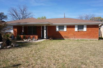 San Angelo TX Single Family Home For Sale: $119,900