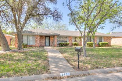 San Angelo Single Family Home For Sale: 3609 Threeawn Tr