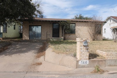 San Angelo TX Single Family Home For Sale: $84,800