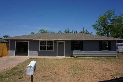 San Angelo TX Single Family Home For Sale: $84,900