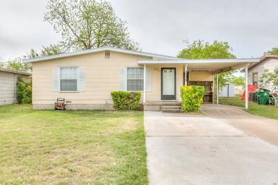 San Angelo TX Single Family Home For Sale: $74,900