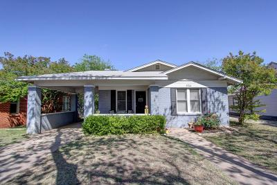 San Angelo TX Single Family Home For Sale: $125,000