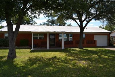 San Angelo Single Family Home For Sale: 1765 Baker Dr