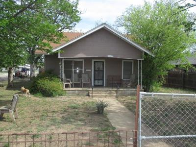 San Angelo TX Single Family Home For Sale: $63,000
