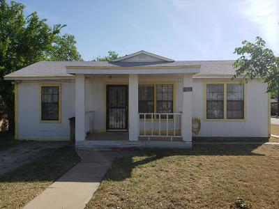 San Angelo Single Family Home For Sale: 1300 Millspaugh St