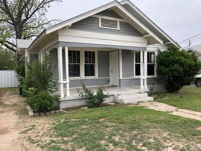 San Angelo TX Single Family Home For Sale: $71,000