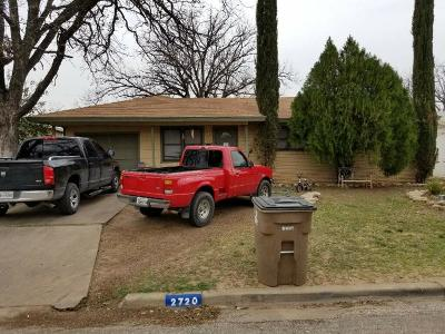 San Angelo TX Single Family Home For Sale: $81,000