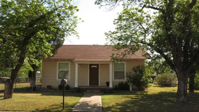 San Angelo Single Family Home For Sale: 327 N Harrison St
