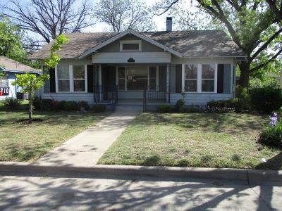San Angelo TX Single Family Home For Sale: $89,000