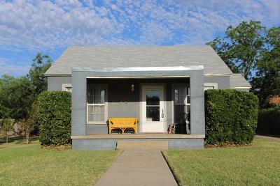 San Angelo TX Single Family Home For Sale: $125,000