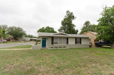 San Angelo Single Family Home For Sale: 1616 Webster Ave