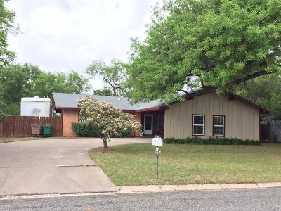 San Angelo TX Single Family Home For Sale: $167,000